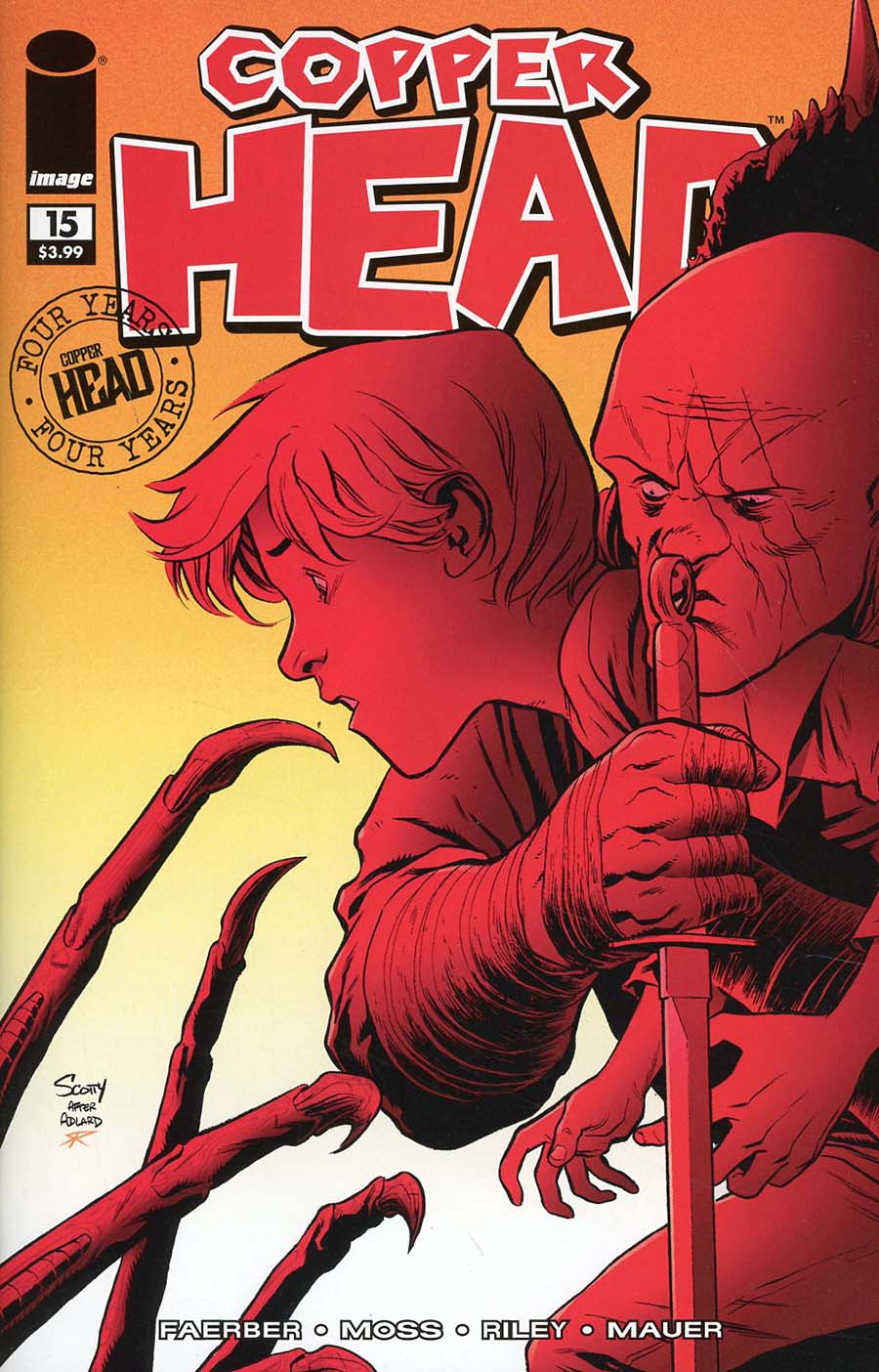 Copperhead #15 Cover B Variant Scott Godlewski & Ron Riley Walking Dead 58 Tribute Color Cover
