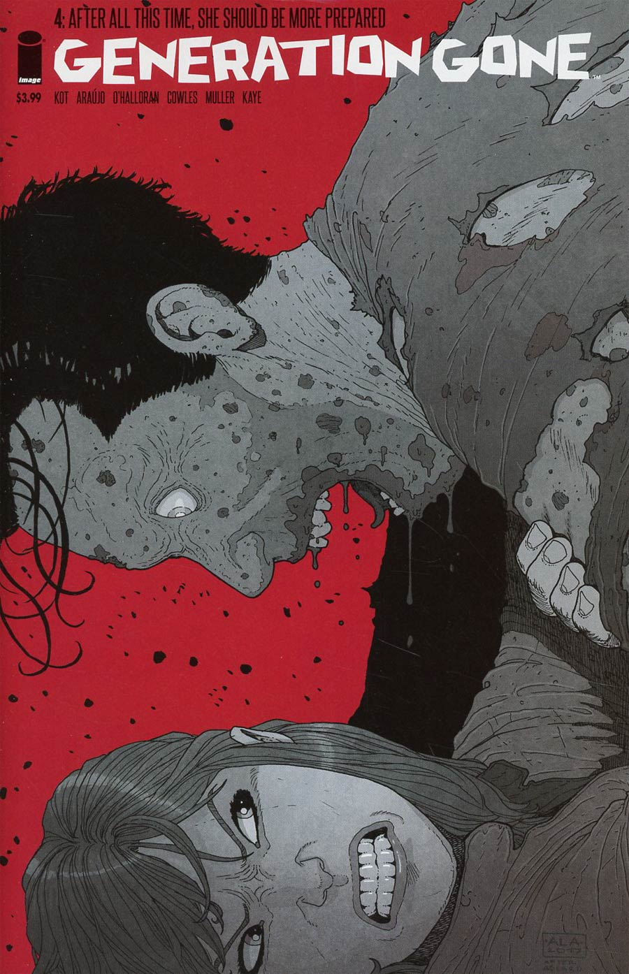 Generation Gone #4 Cover B Variant Andre Lima Araujo & Chris OHalloran Walking Dead 128 Tribute Color Cover