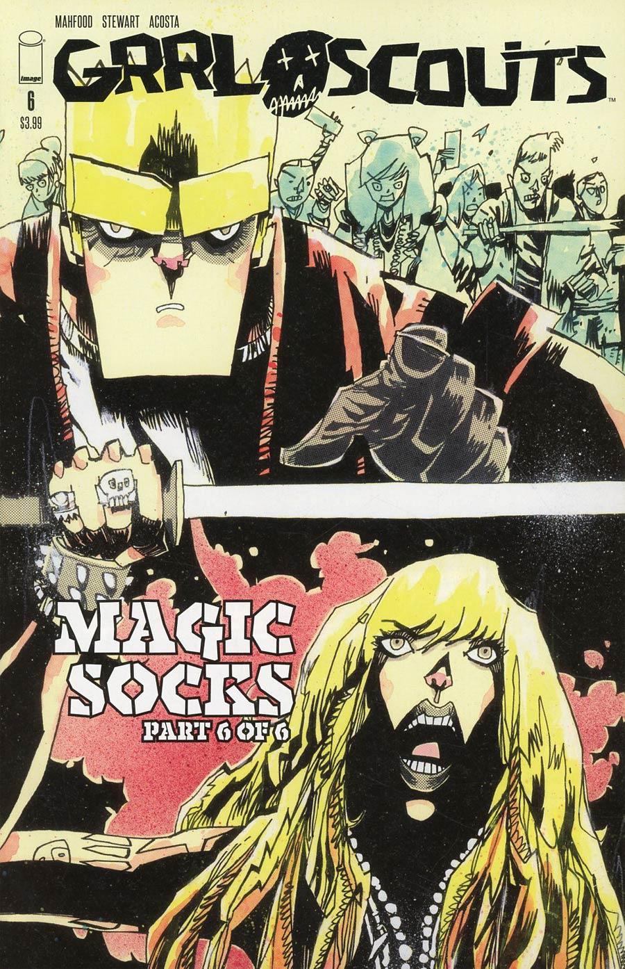 Grrl Scouts Magic Socks #6 Cover C Variant Jim Mahfood Walking Dead 158 Tribute Color Cover