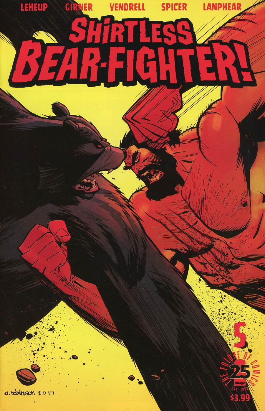 Shirtless Bear-Fighter #5 Cover A Regular Andrew Robinson Cover