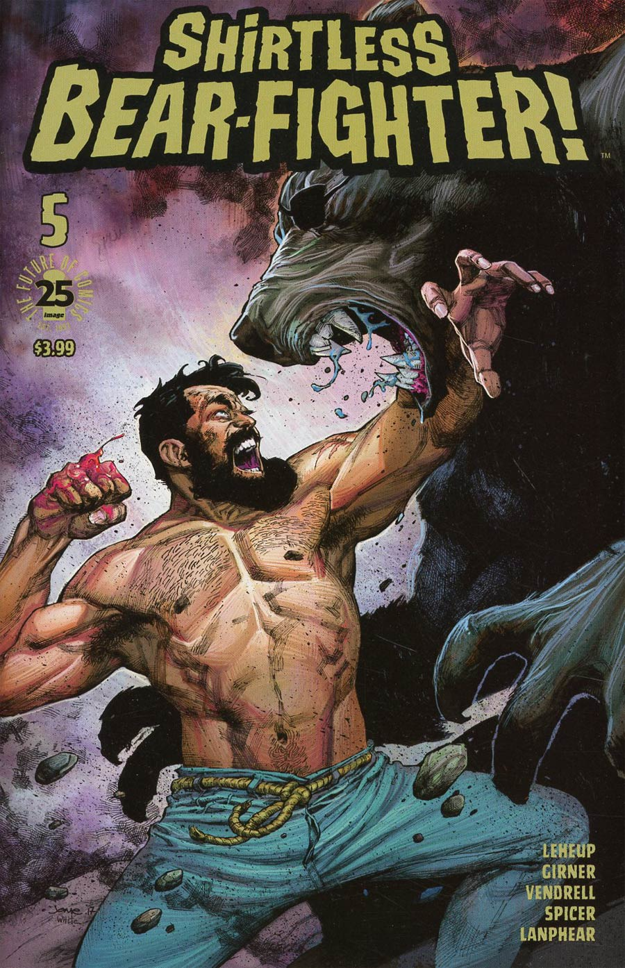 Shirtless Bear-Fighter #5 Cover B Variant Jerome Opena Cover