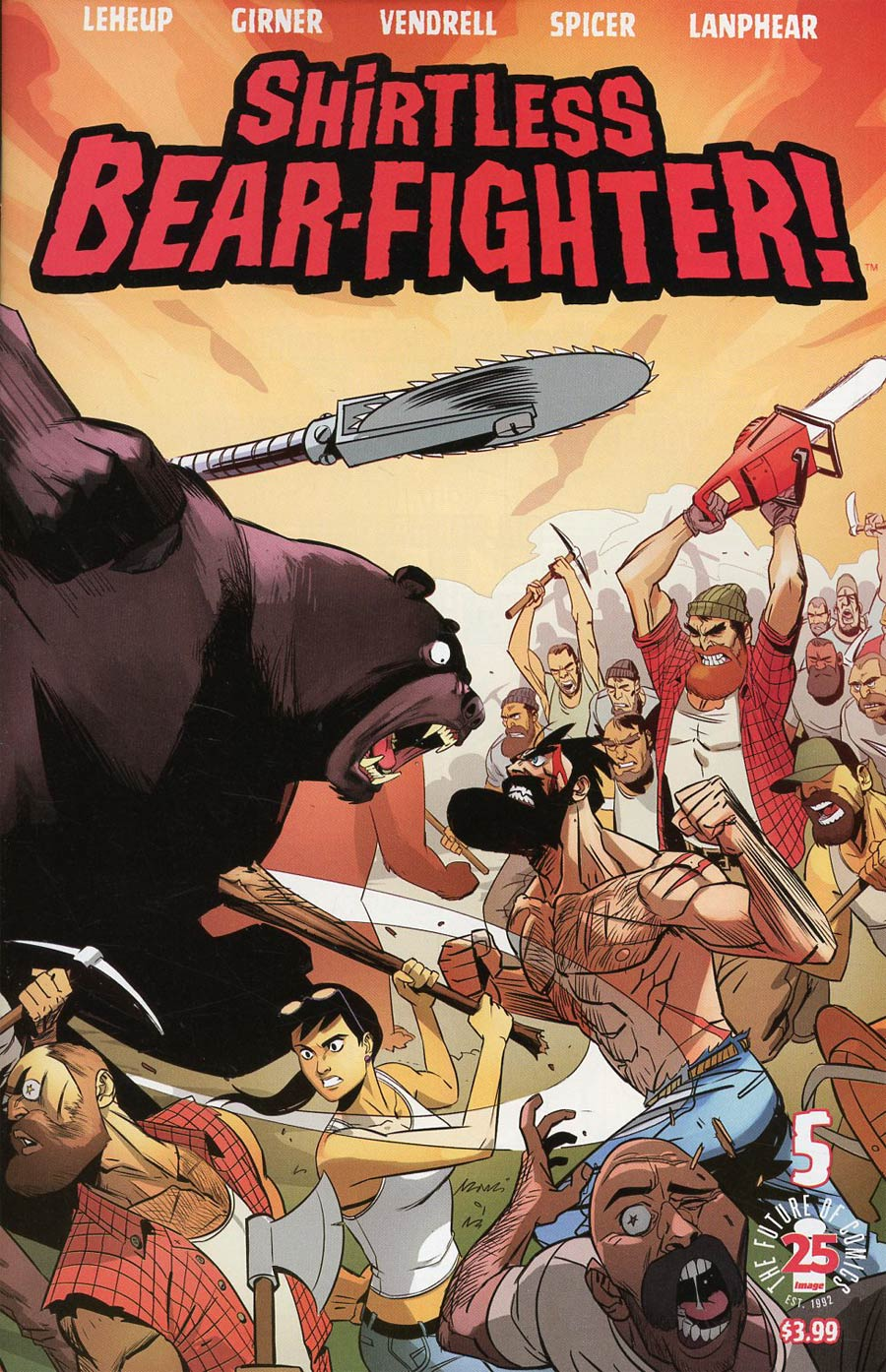 Shirtless Bear-Fighter #5 Cover C Variant Nil Vendrell Cover