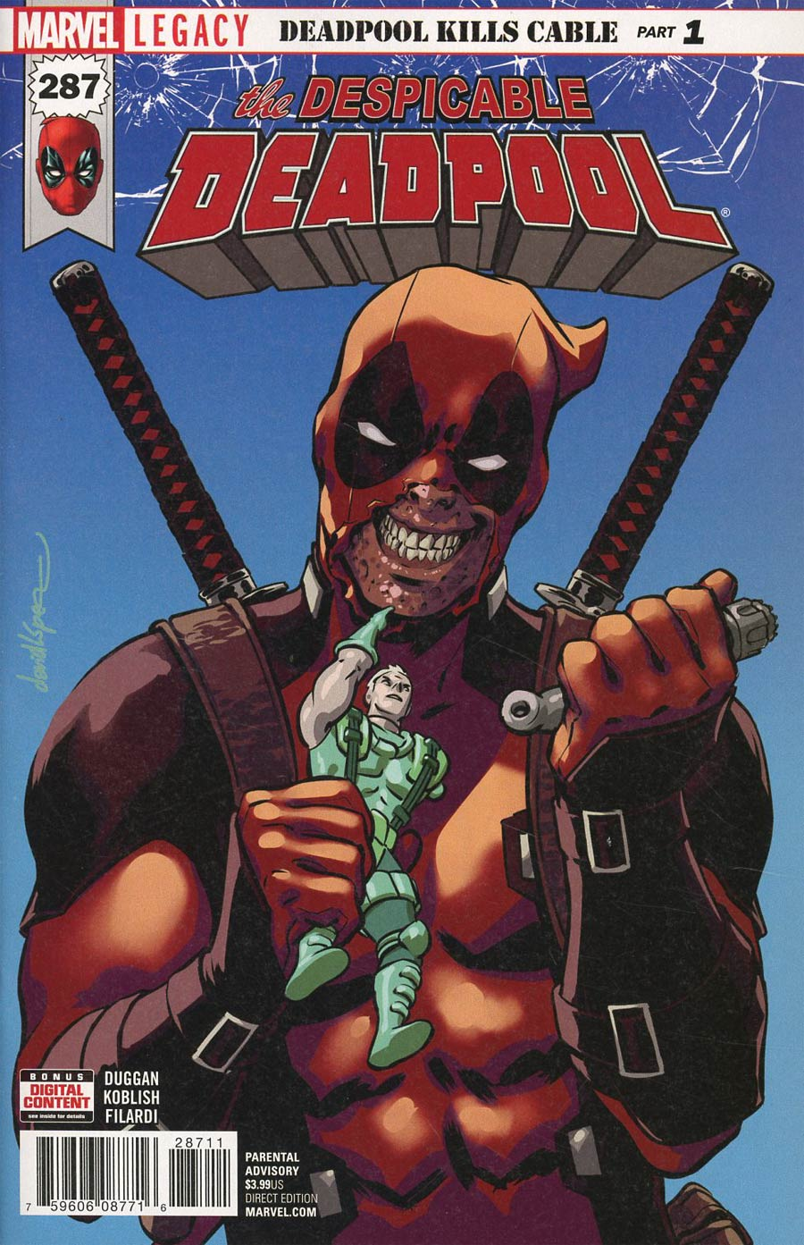 Despicable Deadpool #287 Cover A 1st Ptg Regular David Lopez Cover (Marvel Legacy Tie-In)
