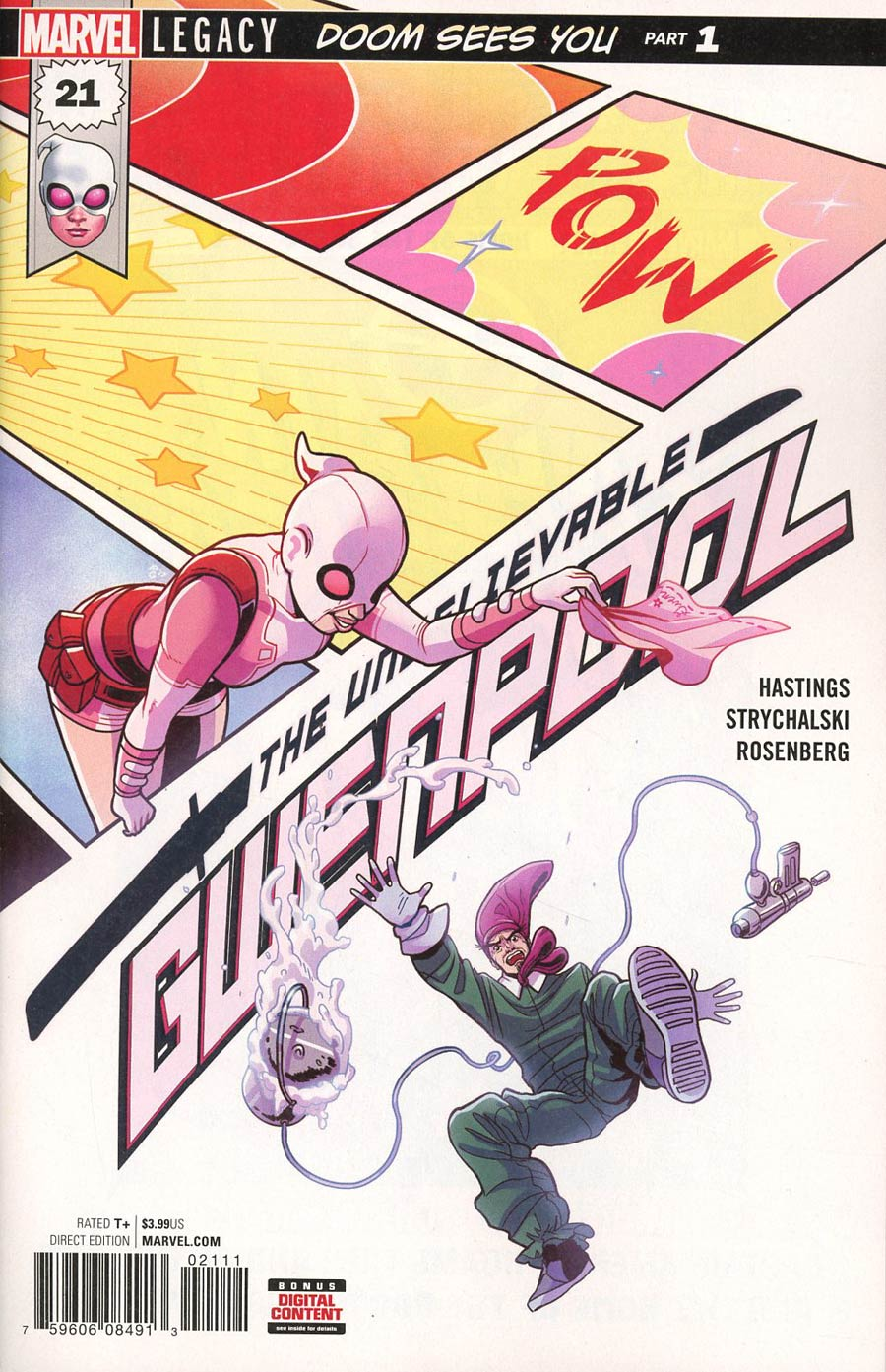 Gwenpool #21 Cover A 1st Ptg Regular Paulina Ganucheau Cover (Marvel Legacy Tie-In)