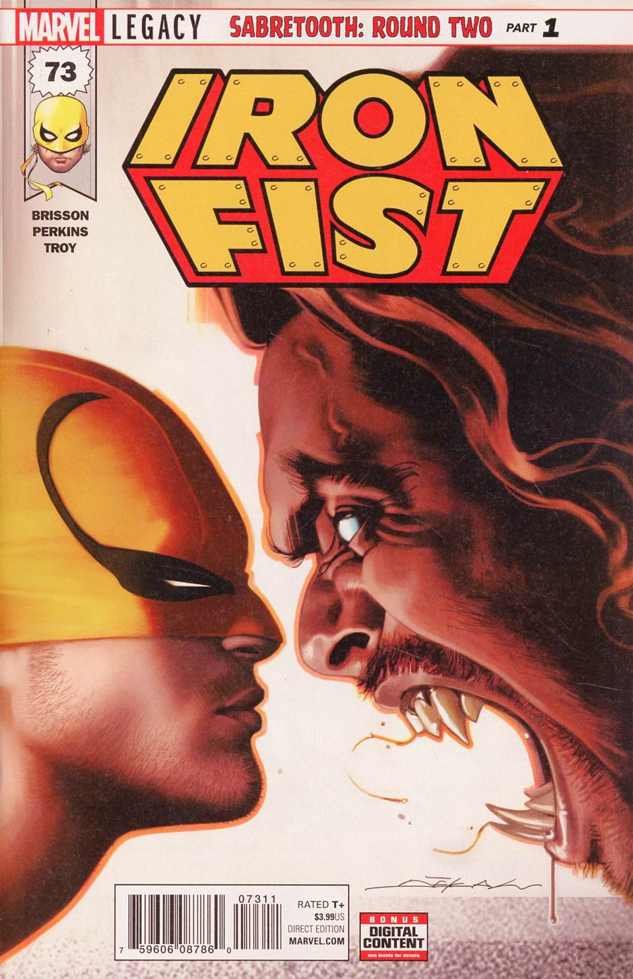Iron Fist Vol 5 #73 Cover A 1st Ptg Regular Jeff Dekal Cover (Marvel Legacy Tie-In)
