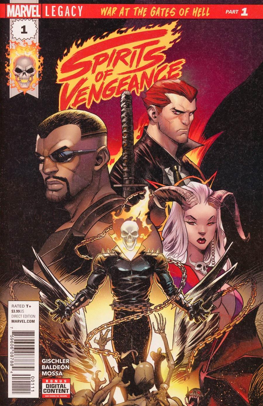 Spirits Of Vengeance #1 Cover A 1st Ptg Regular Dan Mora Cover (Marvel Legacy Tie-In)