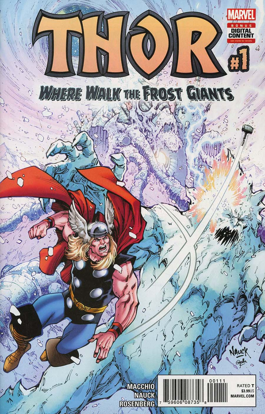 Thor Where Walk The Frost Giants #1 Cover A Regular Todd Nauck Cover