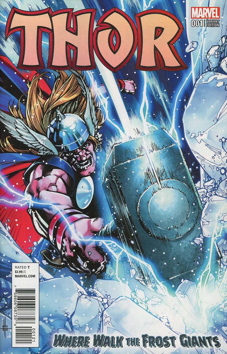 Thor Where Walk The Frost Giants #1 Cover B Variant Zach Howard Cover