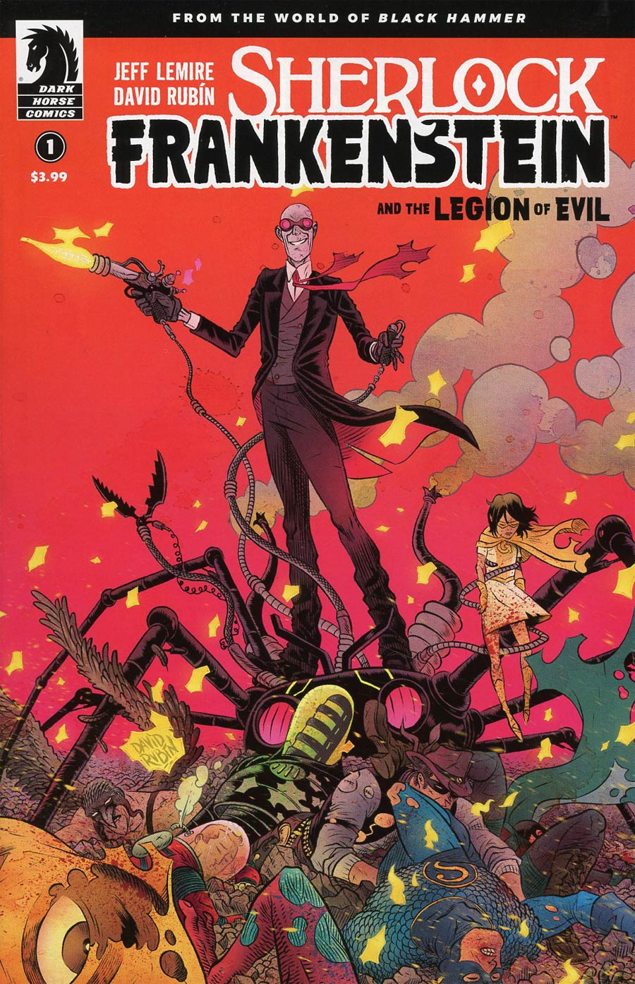 Sherlock Frankenstein And The Legion Of Evil #1 Cover A Regular David Rubin Cover