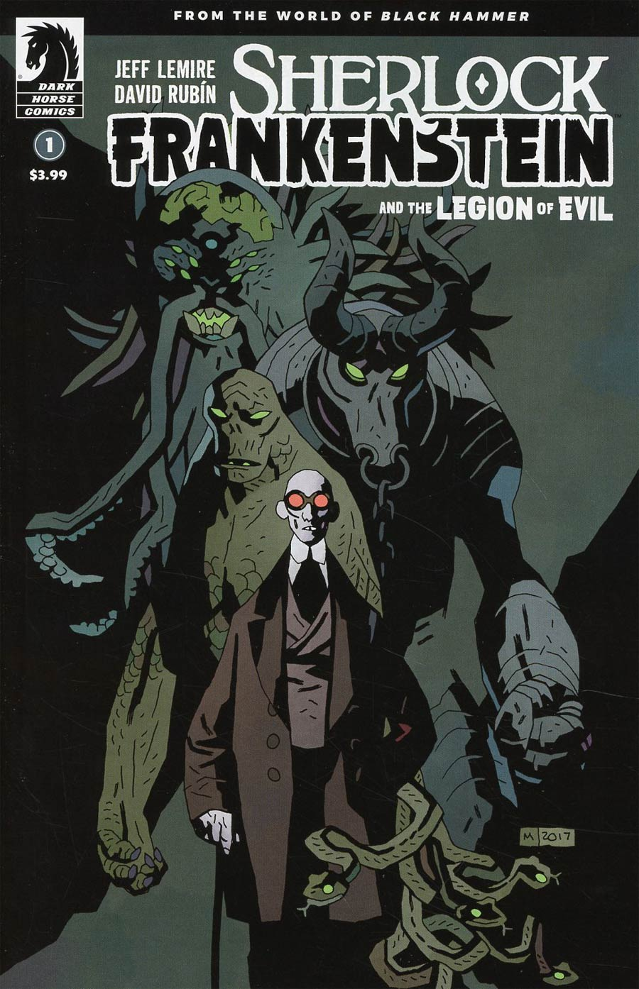 Sherlock Frankenstein And The Legion Of Evil #1 Cover B Variant Mike Mignola Cover