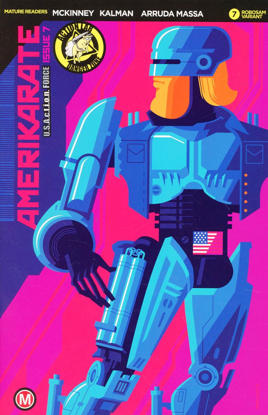 Amerikarate #7 Cover C Variant Tom Whalen Robosam Cover