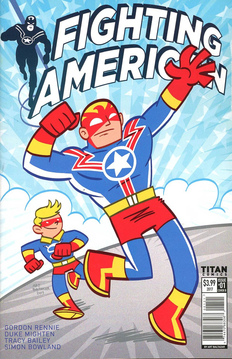 Fighting American Vol 4 #1 Cover B Variant Art Baltazar Cover