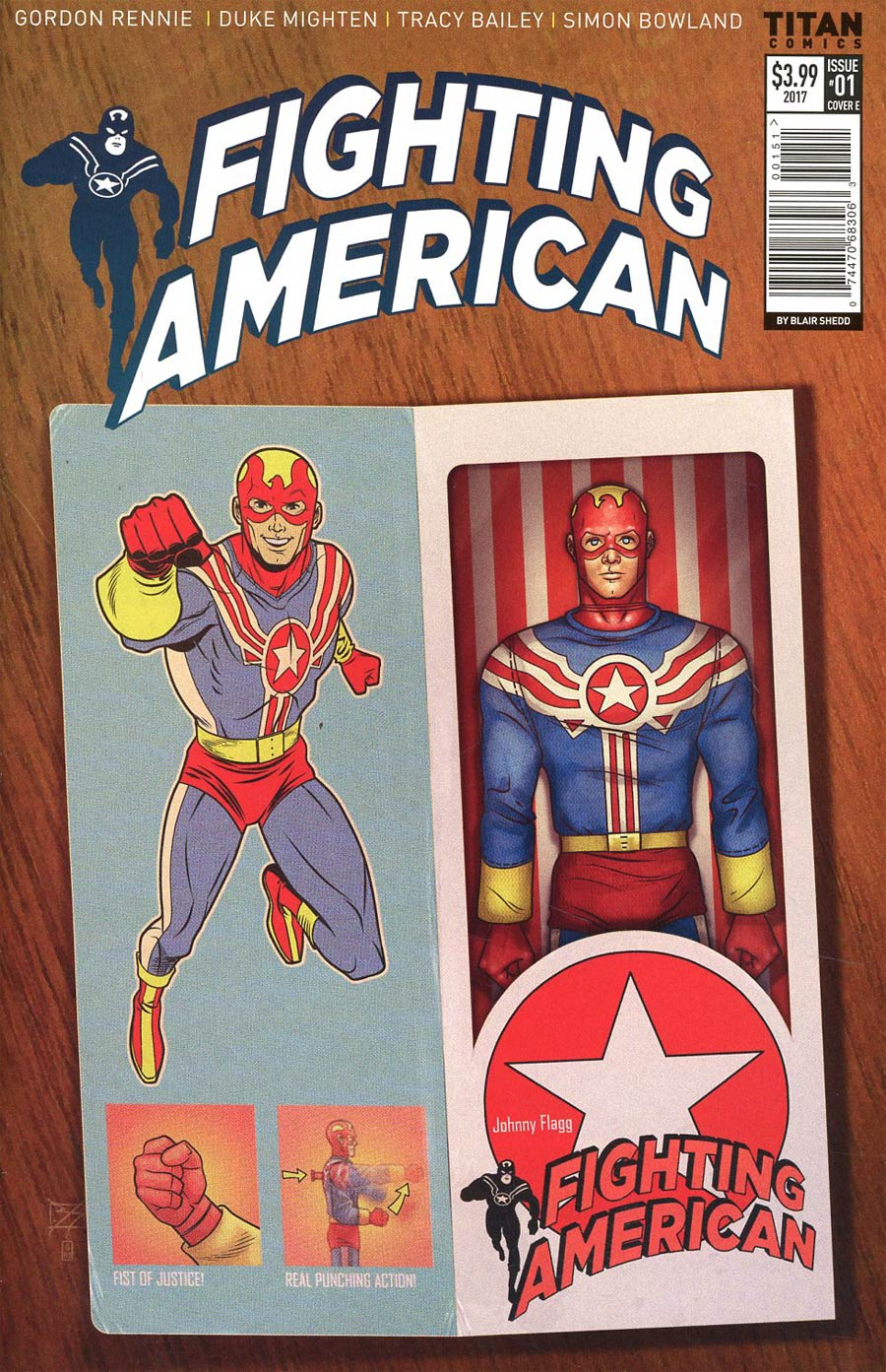 Fighting American Vol 4 #1 Cover E Variant Blair Shedd Action Figure Cover
