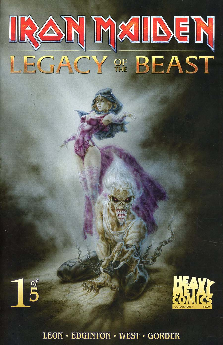 Iron Maiden Legacy Of The Beast #1 Cover B Variant Santi Casas Cover
