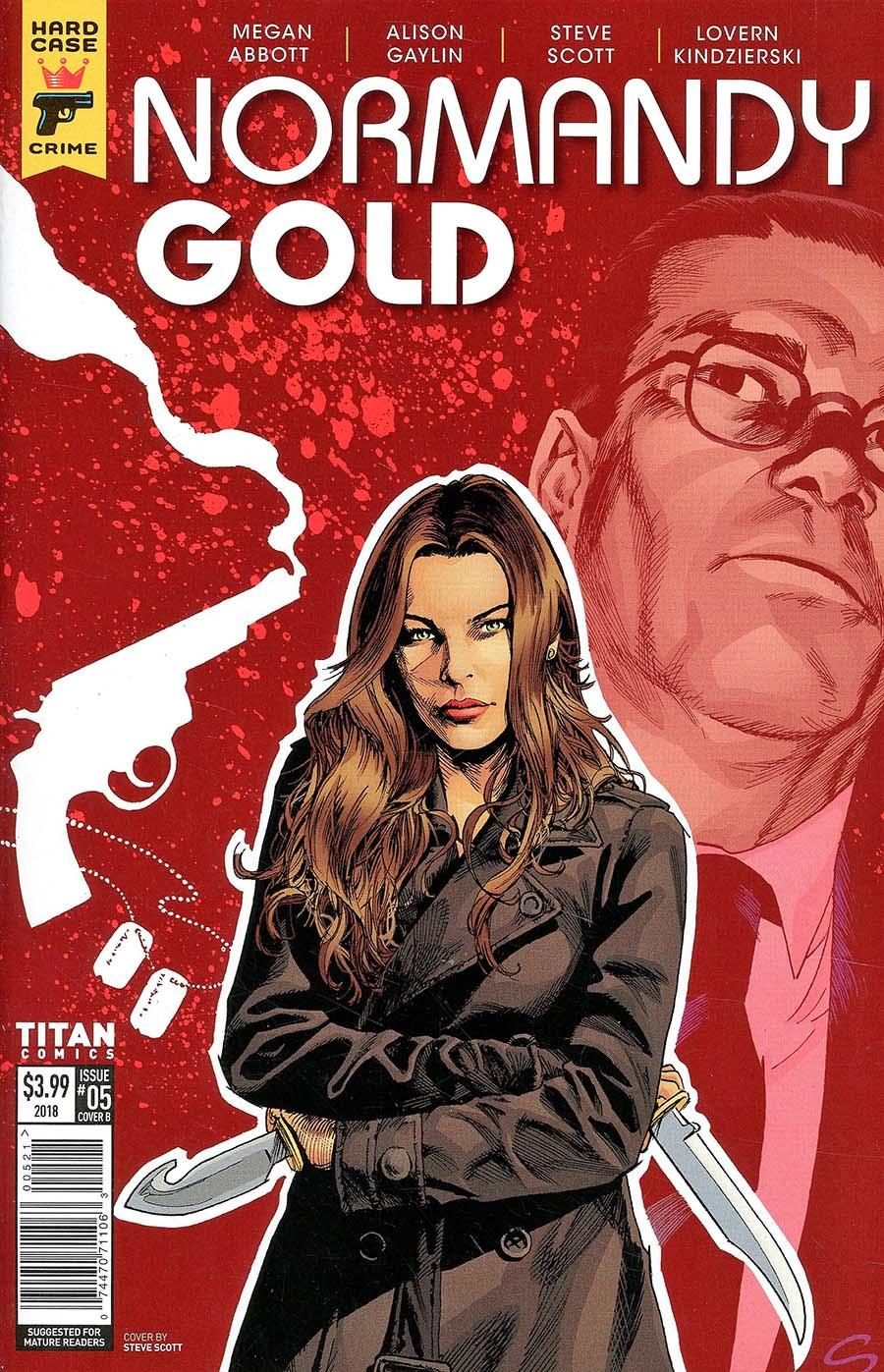 Hard Case Crime Normandy Gold #5 Cover B Variant Steve Scott Cover