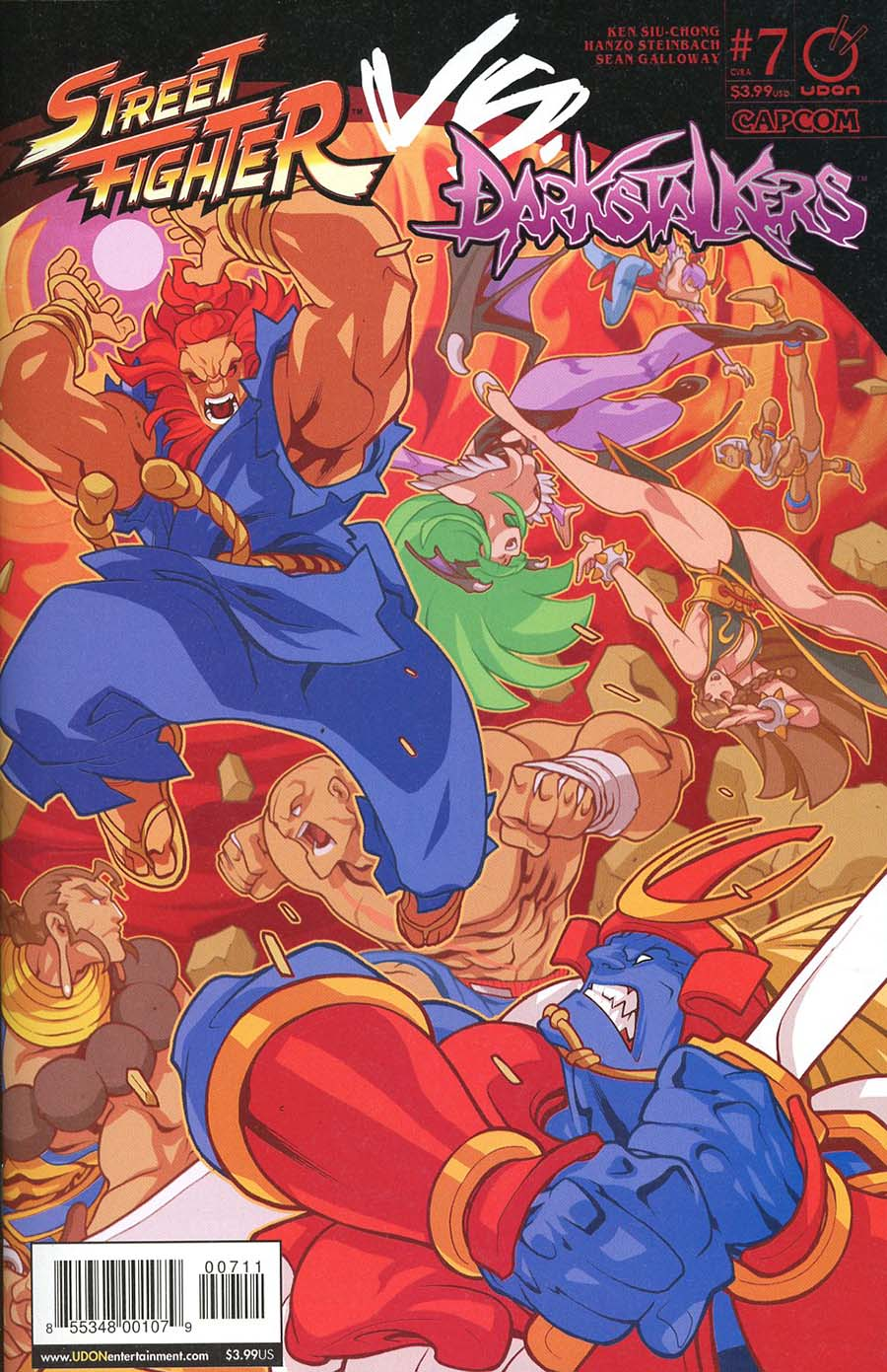Street Fighter vs Darkstalkers #7 Cover A Regular Edwin Huang Story Cover