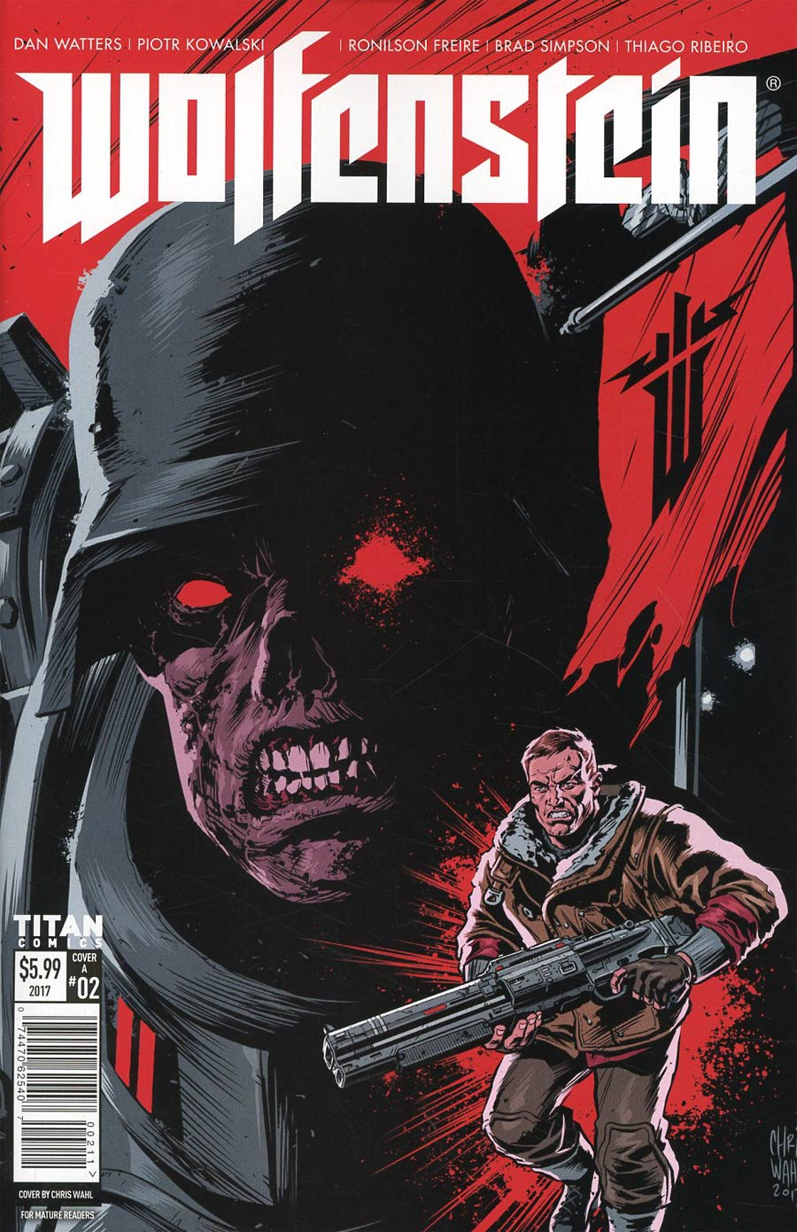 Wolfenstein #2 Cover A Regular Chris Wahl Cover