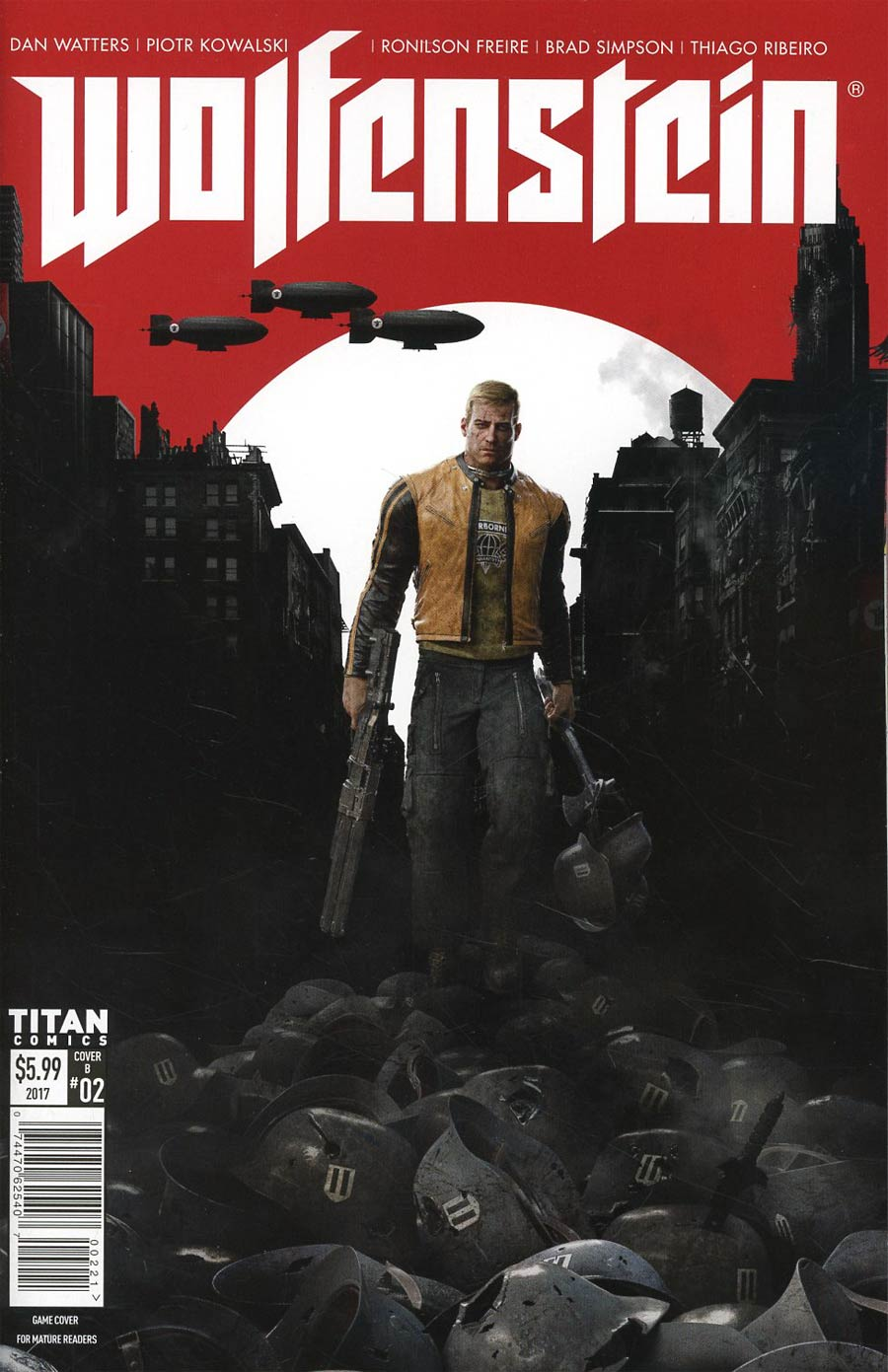Wolfenstein #2 Cover B Variant Game Art Cover