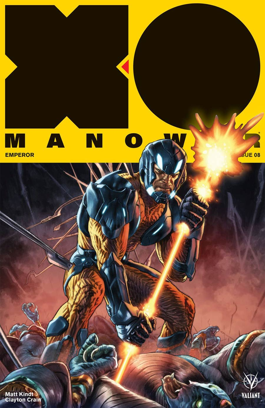 X-O Manowar Vol 4 #8 Cover A Regular Lewis Larosa Cover