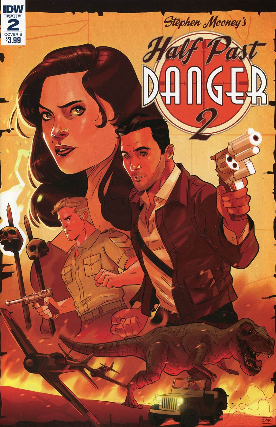 Half Past Danger II Dead To Reichs #2 Cover B Variant Stephen Byrne Cover