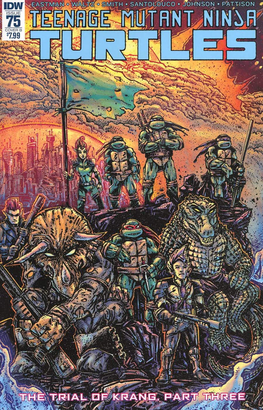 Teenage Mutant Ninja Turtles Vol 5 #75 Cover B Variant Kevin Eastman Cover