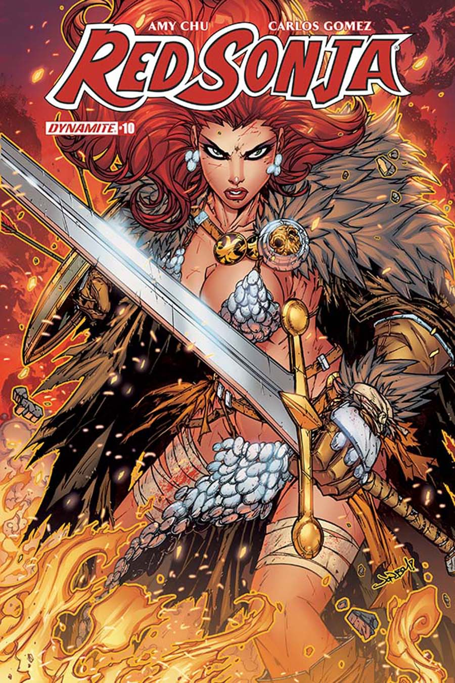 Red Sonja Vol 7 #10 Cover C Variant Jonboy Meyers Cover