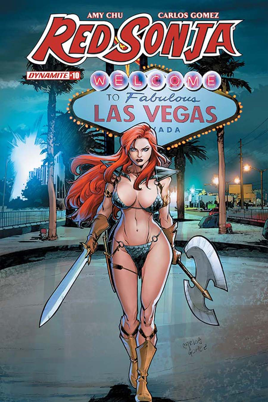 Red Sonja Vol 7 #10 Cover E Variant Carlos Gomez Subscription Cover
