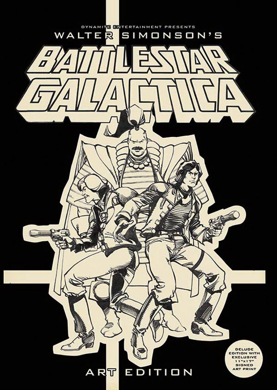Walter Simonsons Battlestar Galactica Art Edition HC Deluxe Remarked Edition