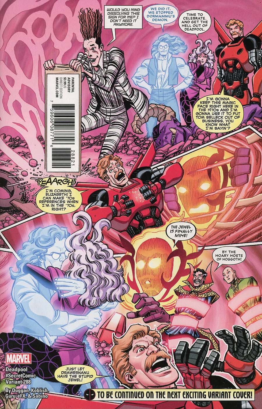 Despicable Deadpool #288 Cover B Variant Scott Koblish Secret Comic Cover (Marvel Legacy Tie-In)