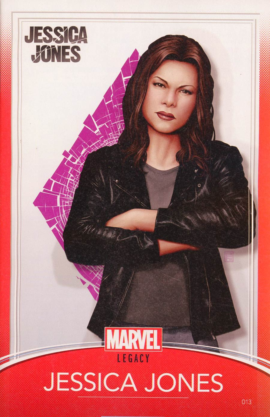 Jessica Jones #13 Cover C Variant John Tyler Christopher Trading Card Cover (Marvel Legacy Tie-In)