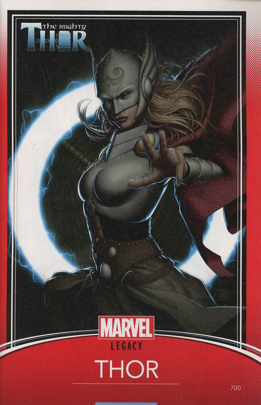 Mighty Thor Vol 2 #700 Cover C Variant John Tyler Christopher Trading Card Cover (Marvel Legacy Tie-In)