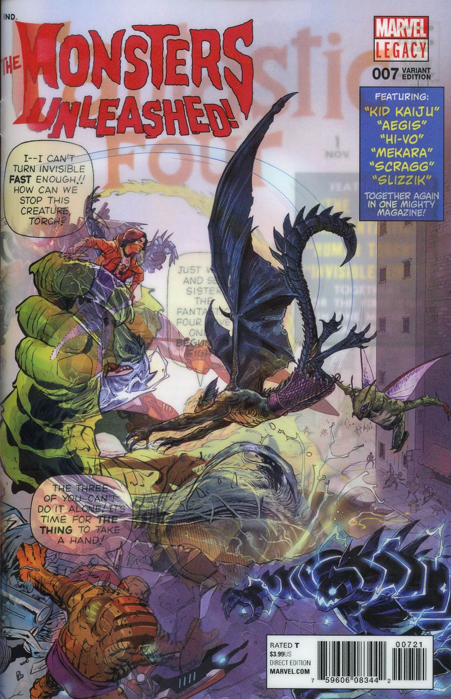 Monsters Unleashed Vol 2 #7 Cover B Variant Dan Mora Lenticular Homage Cover (Marvel Legacy Tie-In)