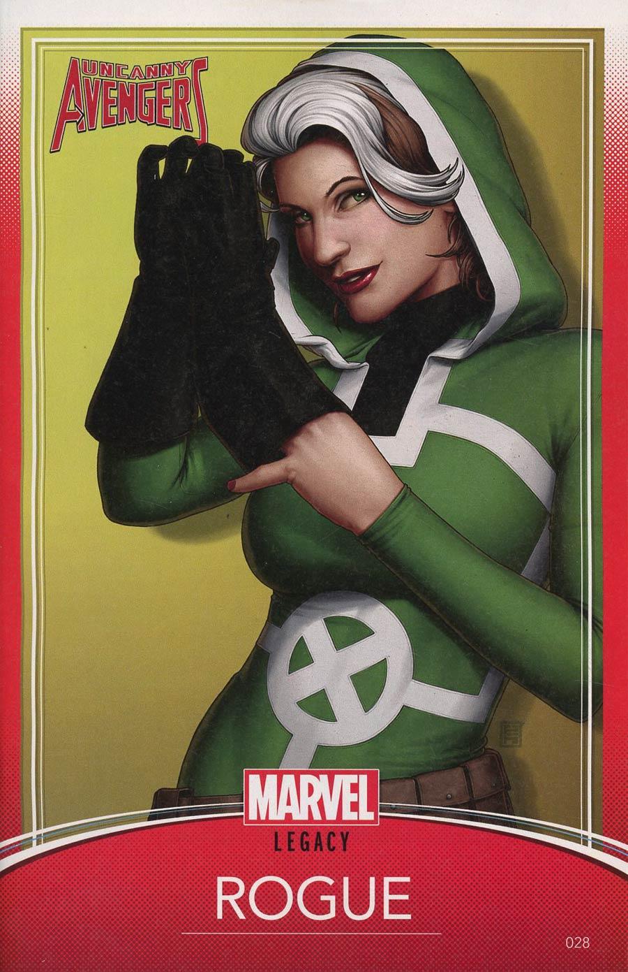 Uncanny Avengers Vol 3 #28 Cover C Variant John Tyler Christopher Trading Card Cover (Marvel Legacy Tie-In)
