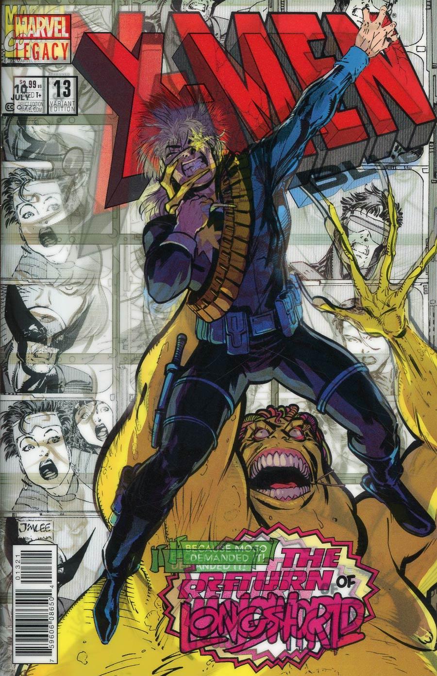 X-Men Blue #13 Cover B Variant David Lopez Lenticular Homage Cover (Mojo Worldwide Part 2)(Marvel Legacy Tie-In)