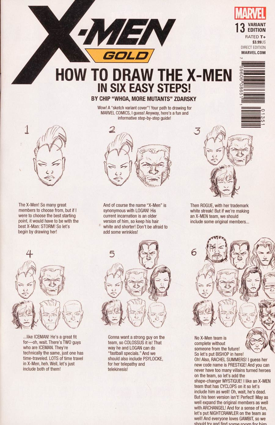 X-Men Gold #13 Cover D Variant Chip Zdarsky How-To-Draw Cover (Mojo Worldwide Part 1)(Marvel Legacy Tie-In)