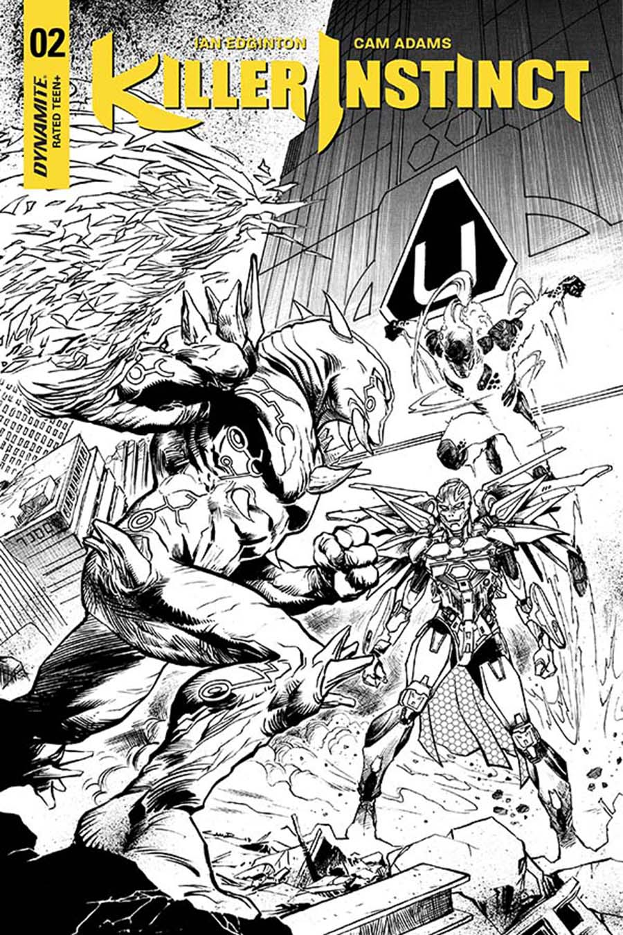 Killer Instinct Vol 2 #2 Cover G Incentive Yildiray Cinar Black & White Cover