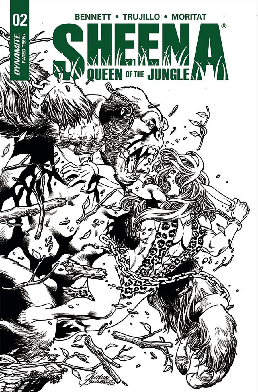 Sheena Vol 4 #2 Cover F Incentive Rodney Buchemi Black & White Cover