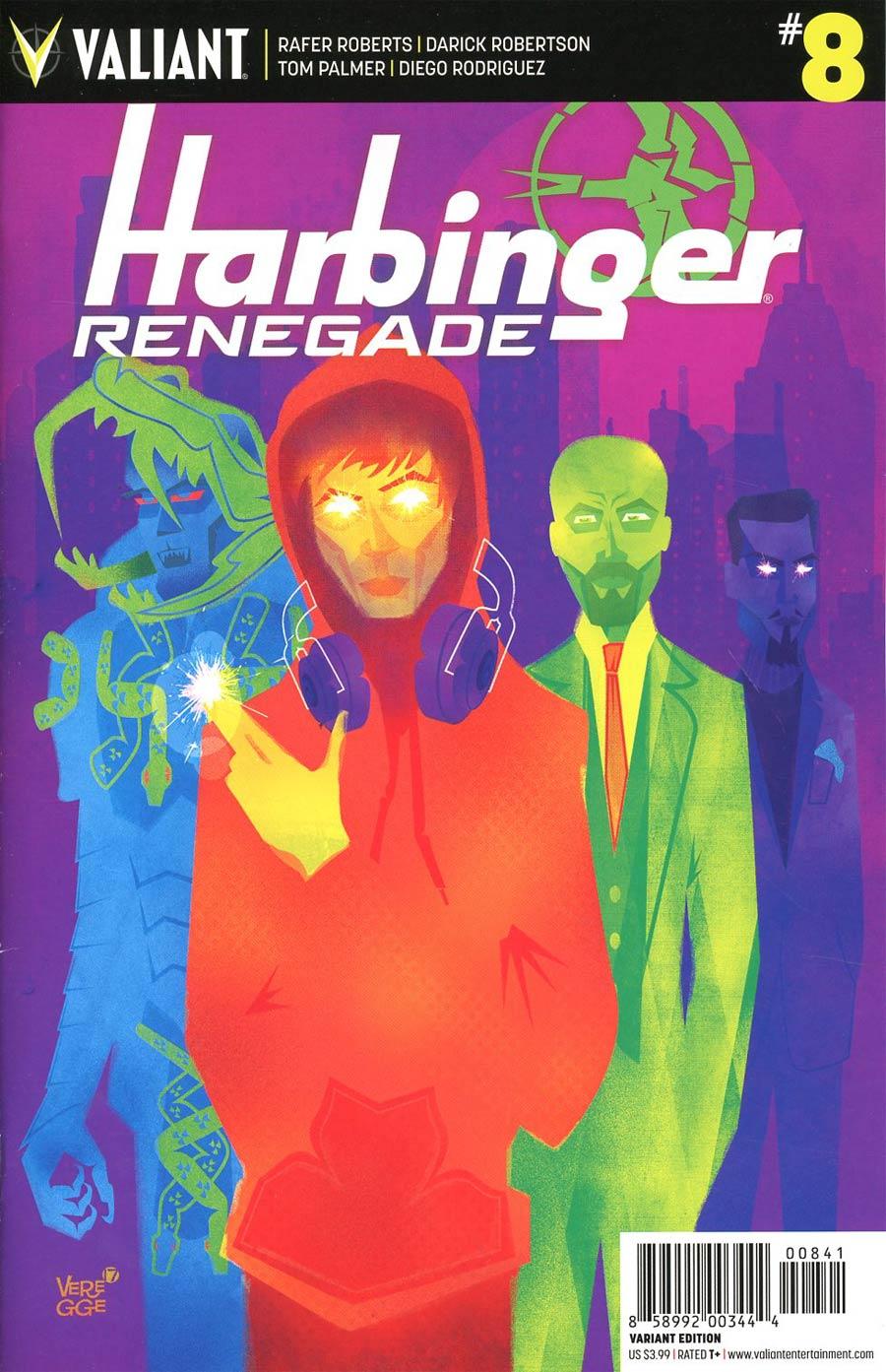 Harbinger Renegade #8 Cover D Incentive Jeffrey Veregge Variant Cover