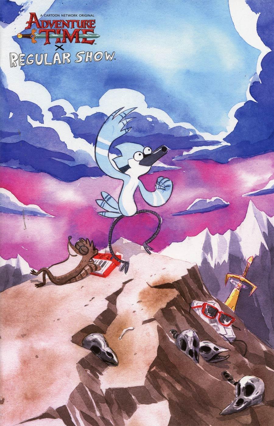 Adventure Time Regular Show #1 Cover D Incentive Dustin Nguyen Mash-Up Homage Virgin Variant Cover