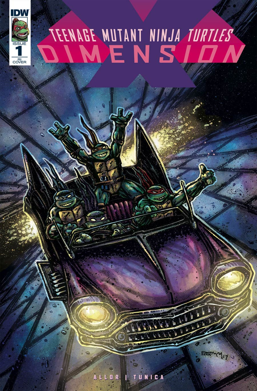 Teenage Mutant Ninja Turtles Dimension X #1 Cover D Incentive Ultra-Limited Kevin Eastman Variant Cover