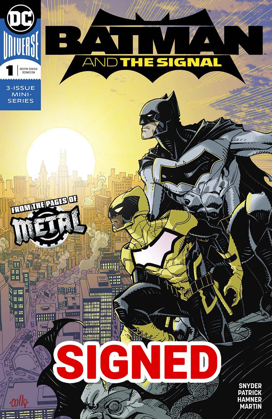 Batman And The Signal #1 Cover D Regular Cully Hamner Cover Signed By Scott Snyder & Tony Patrick (Dark Nights Metal Tie-In)