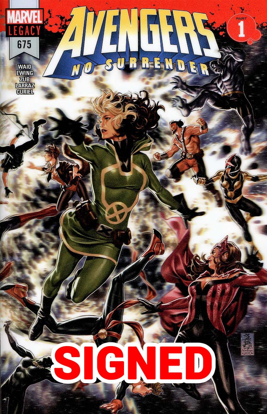 Avengers Vol 6 #675 Cover M Regular Mark Brooks 3D Lenticular Wraparound Cover Signed By Jim Zub (No Surrender Part 1)