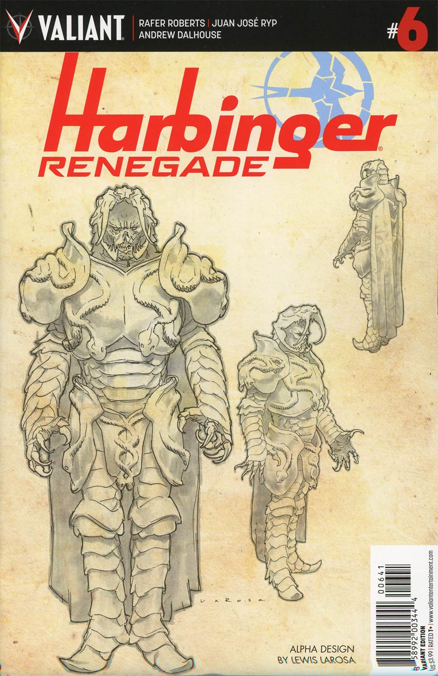 Harbinger Renegade #6 Cover D Incentive Lewis Larosa Character Design Variant Cover