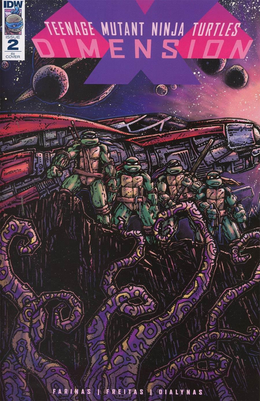 Teenage Mutant Ninja Turtles Dimension X #2 Cover C Incentive Kevin Eastman Variant Cover