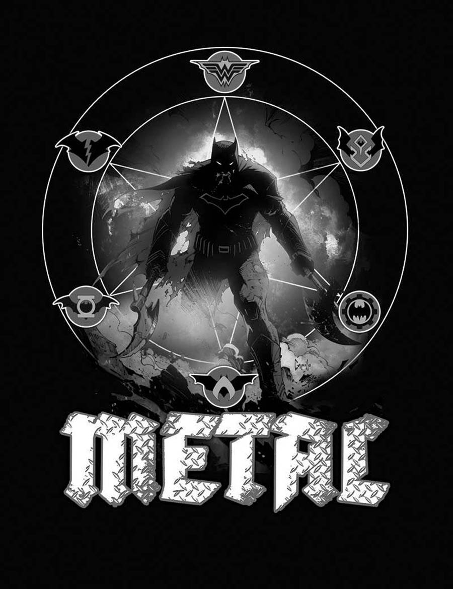 Dark Nights Metal #1 Cover F Incentive Midnight Release Black & White Variant Cover