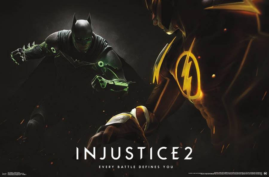 Injustice 2 Batman And Flash Poster
