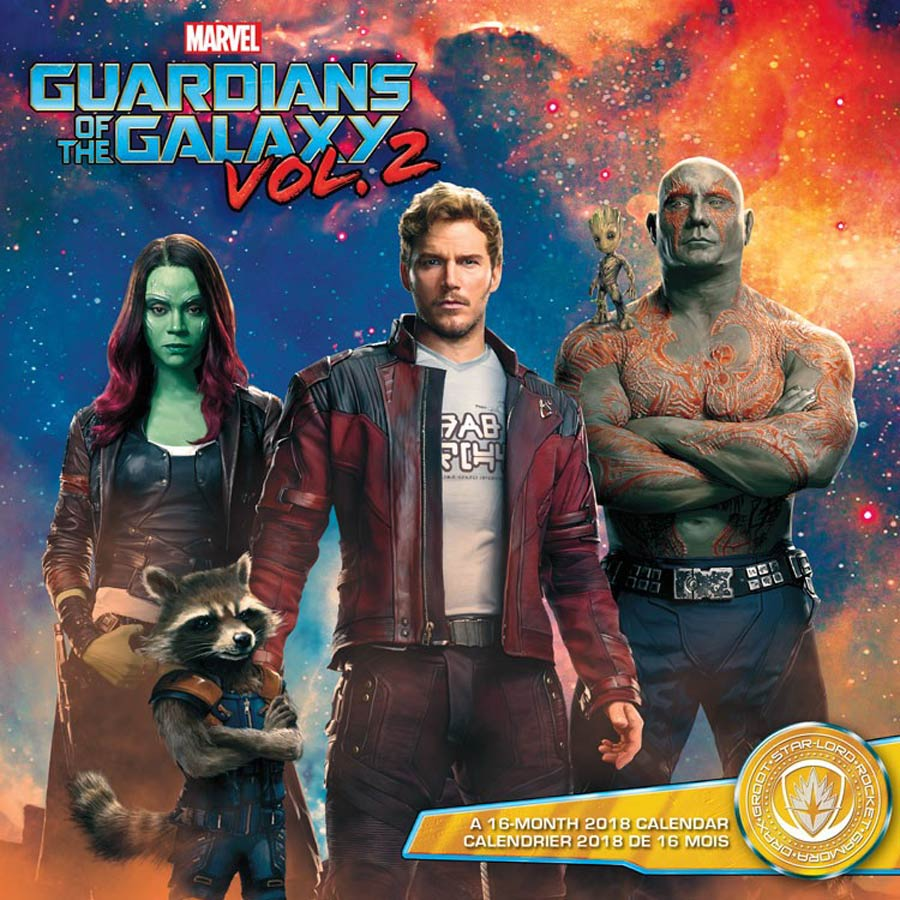 Guardians Of The Galaxy Vol 2 Group Yeah Baby 2018 12x12-inch Wall Calendar