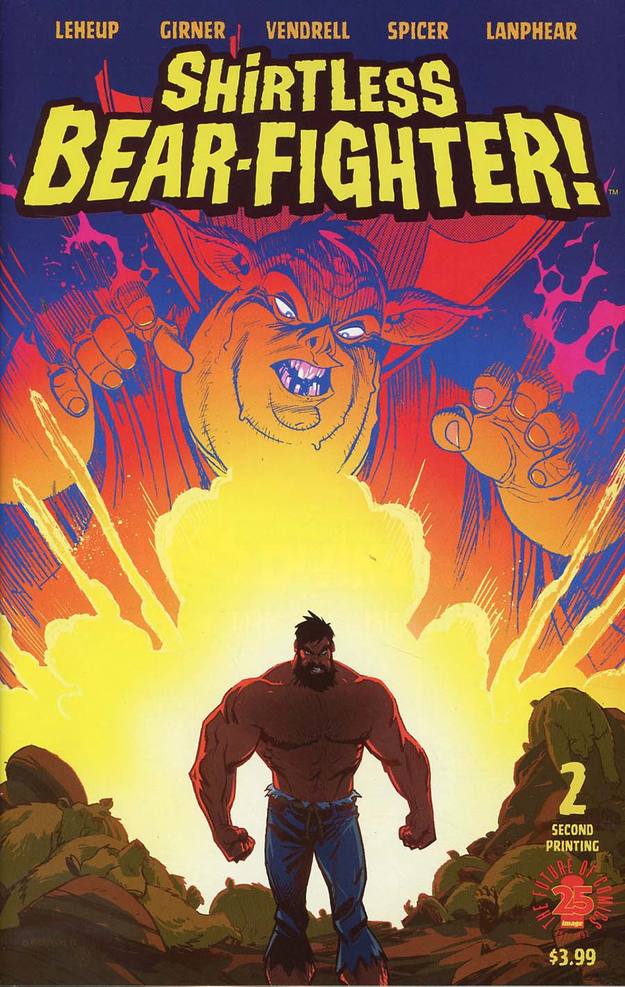 Shirtless Bear-Fighter #2 Cover E 2nd Ptg Andrew Robinson Variant Cover