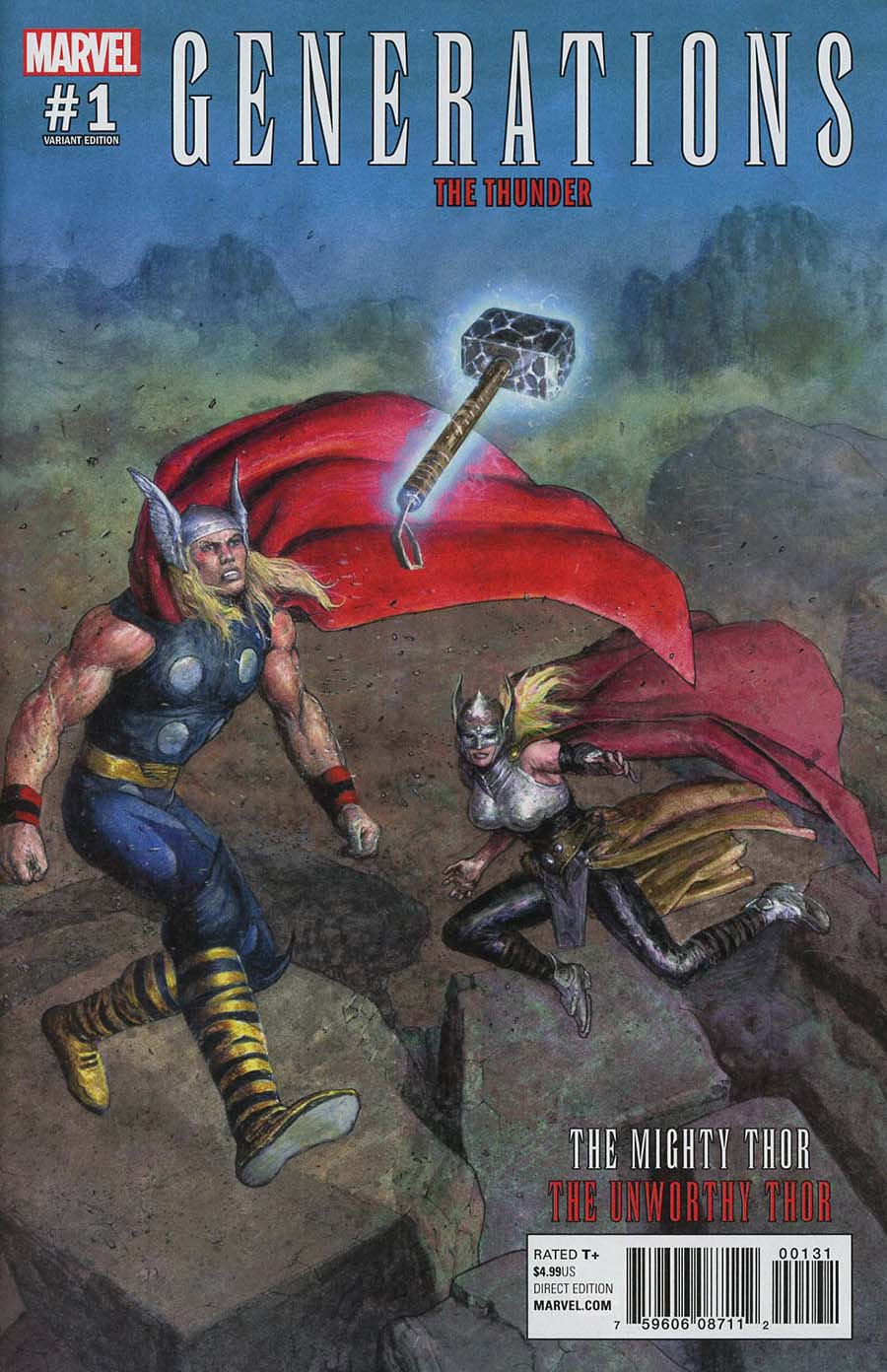 Generations Unworthy Thor & Mighty Thor #1 Cover E Incentive Das Pastoras Variant Cover