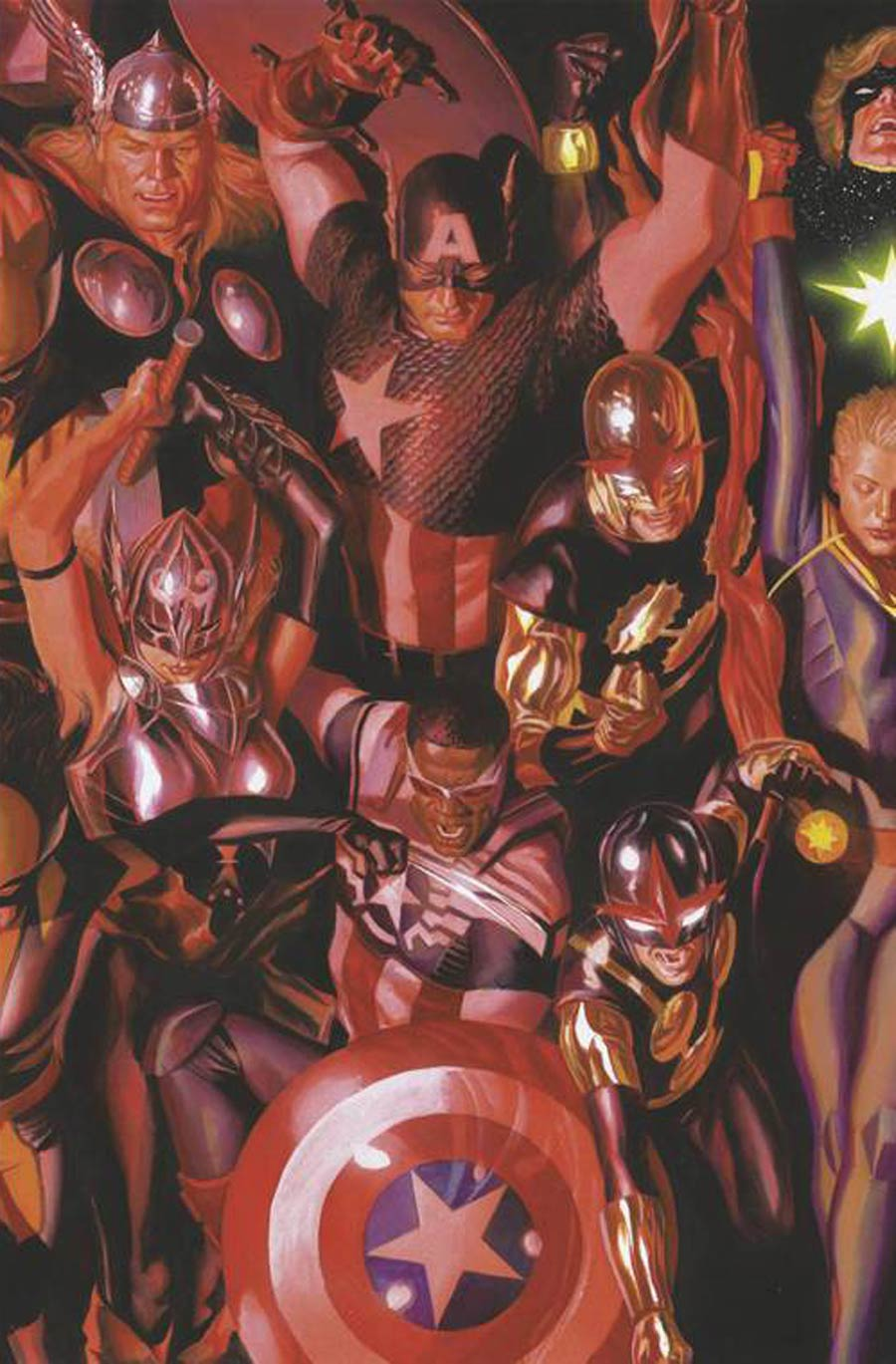 Generations Unworthy Thor & Mighty Thor #1 Cover F Incentive Alex Ross Connecting D Variant Cover
